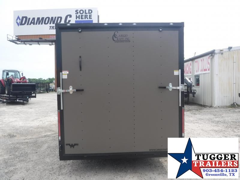 2019 Cargo Craft 7x16 16ft Bronze Blackout Ramp Enclosed Cargo Trailer