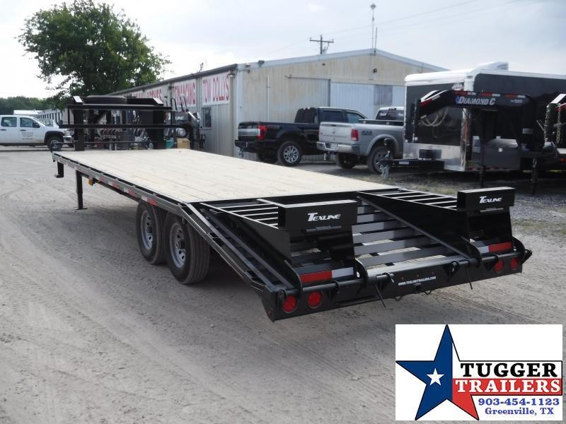 2019 TexLine 102x25 25ft Gooseneck Utility Equipment Deck Over Flatbed Trailer