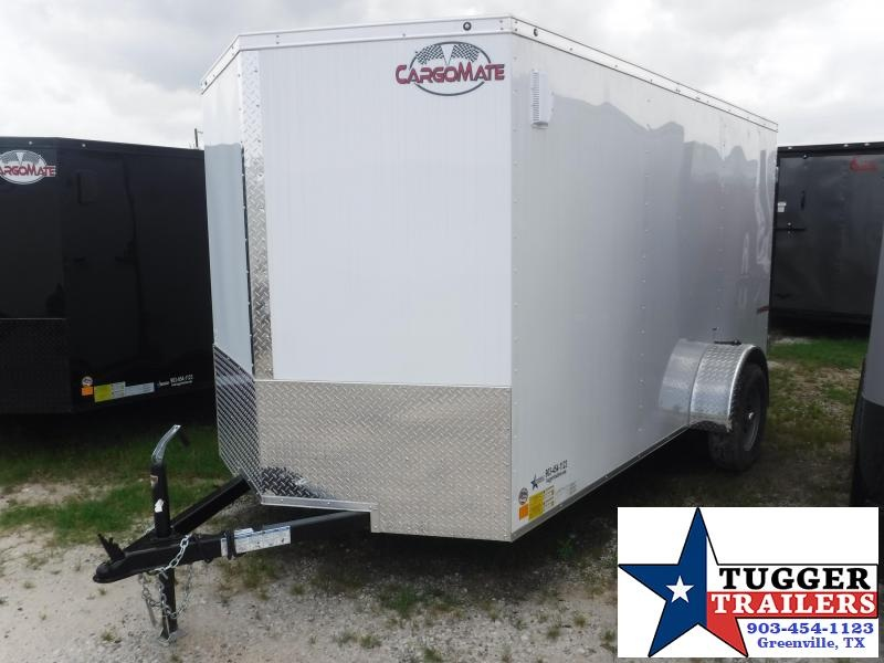2018 Cargo Mate 6x12 12ft E-V White Double Door Enclosed Cargo Single Axle Trailer