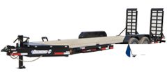 2019 Diamond C Trailers 82x22 22ft Black 2019 LPX Flatbed Trailer