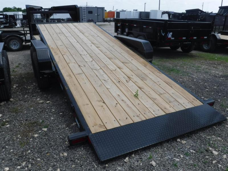 2019 Diamond C Trailers 82x24 24ft Gooseneck Utility Tilt Flatbed Trailer