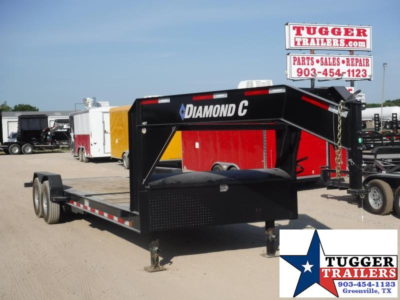 2019 Diamond C Trailers 82x24 24ft Open Gooseneck Utility Tilt Flatbed Trailer
