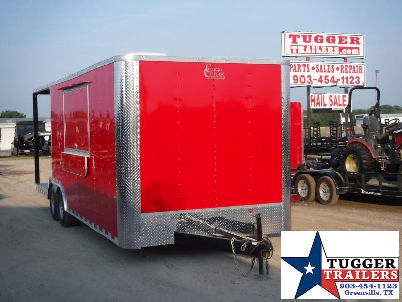 2019 Cargo Craft 8.5x24 24ft Porch Food Taco Snow Cone Street Vending / Concession Trailer
