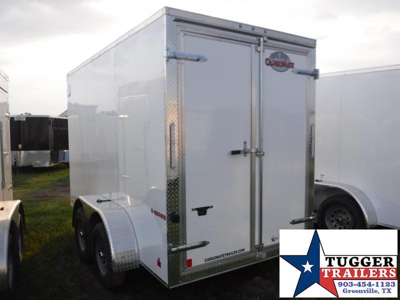2020 Cargo Mate 6x12 12ft Double Door White Enclosed Cargo Tandem Axle Trailer