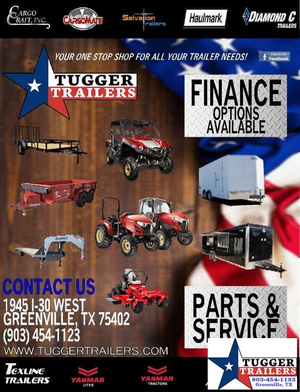 2019 TexLine 77x12 12ft Landscape Work Lawn Equipment Trailer