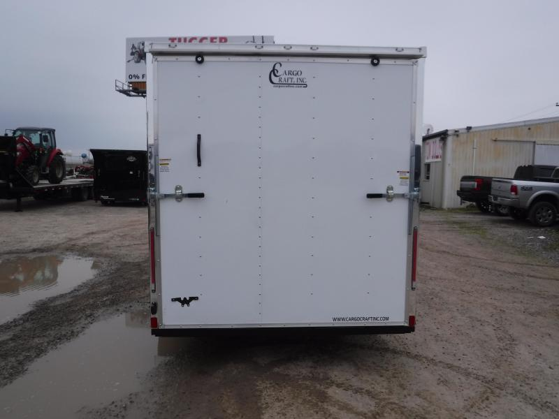 2019 Cargo Craft 7x16 16ft White 2019 Ramp Enclosed Cargo Trailer