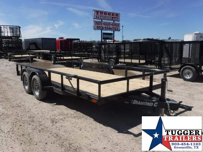 2019 Diamond C Trailers 83x16 16ft Black 2019 GTU235 Utility Trailer