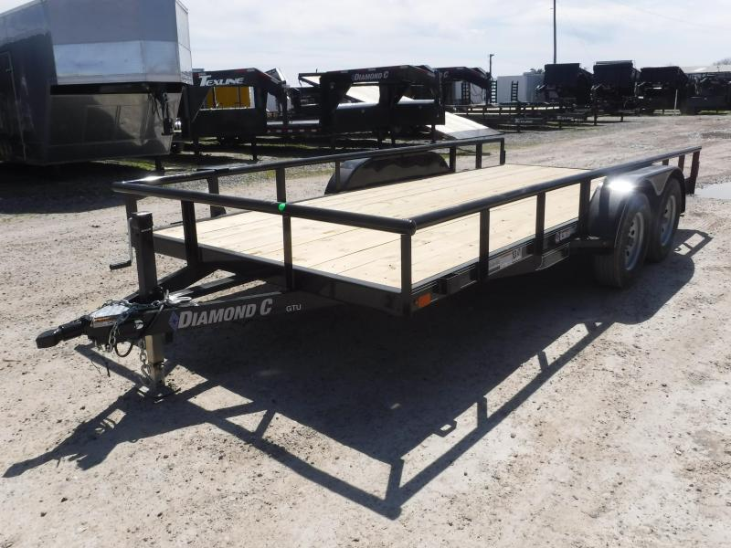 2019 Diamond C Trailers 83x16 16ft Black 2019 GTU235 Utility Trailer