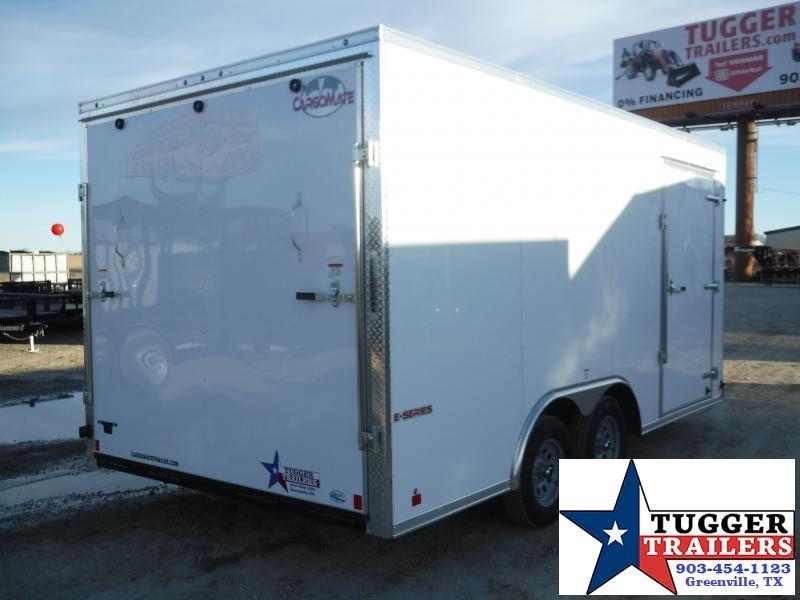 2019 Cargo Mate 8.5x16 E-Series White Tandem Axle Enclosed Cargo Trailer