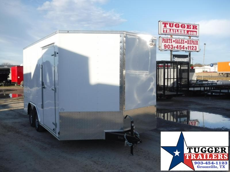 2019 Cargo Mate 8.5x16 E-Series White Tandem Axle Enclosed Cargo Trailer