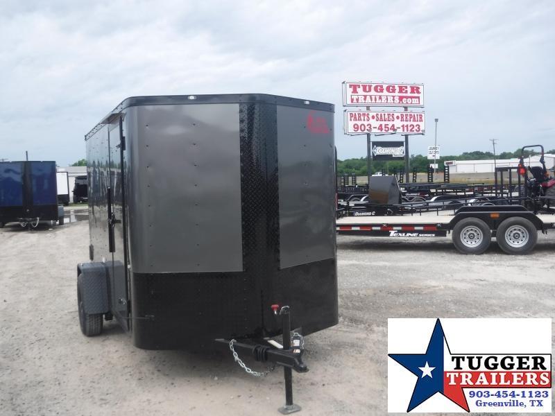 2019 Cargo Craft 6x10 10ft Plus 2 V-Nose Blackout Elite Enclosed Cargo Trailer