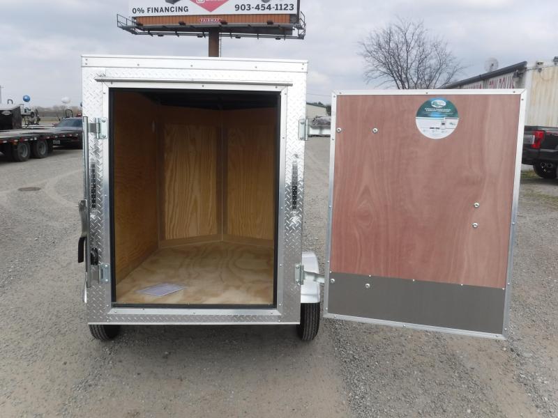 2019 Cargo Mate 4x6 6ft Single Door Enclosed Cargo Trailer