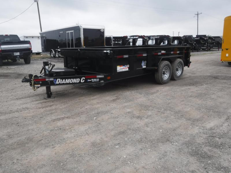 2019 Diamond C Trailers 82x14 14ft Black 2019 LPD207 Dump Trailer