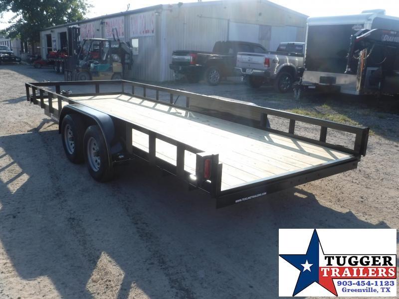 2019 TexLine 83x20 20ft Utility Open Ramp Flatbed Trailer