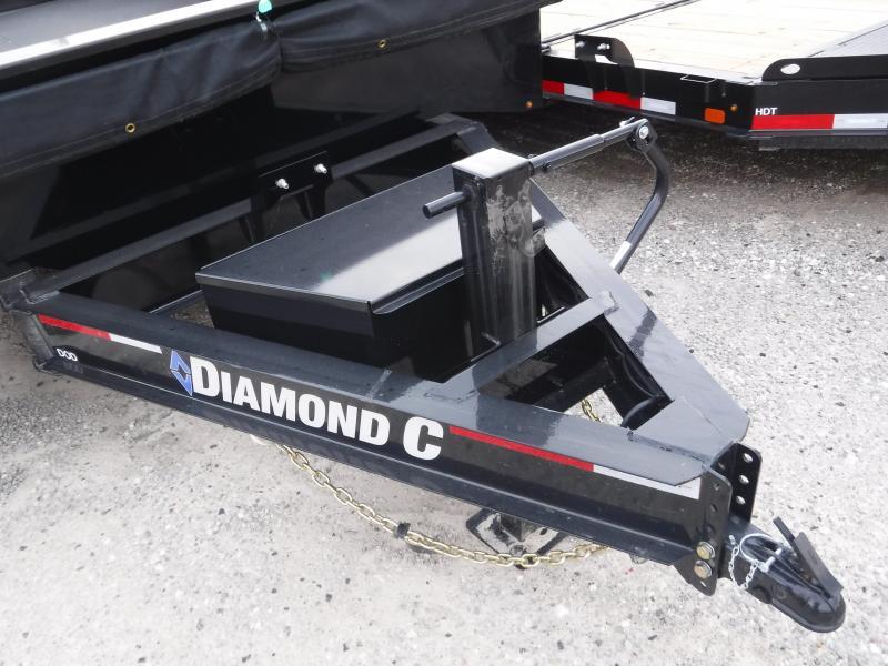 2019 Diamond C Trailers 96x16 16ft Black 2019 DOD Dump Trailer