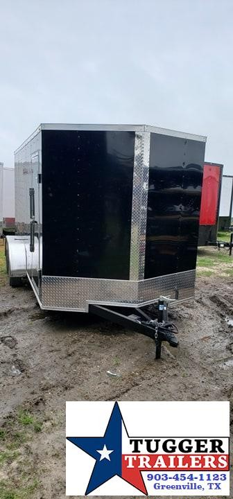 2019 T-Series 7x16 16ft Black Ramp Enclosed Cargo Trailer