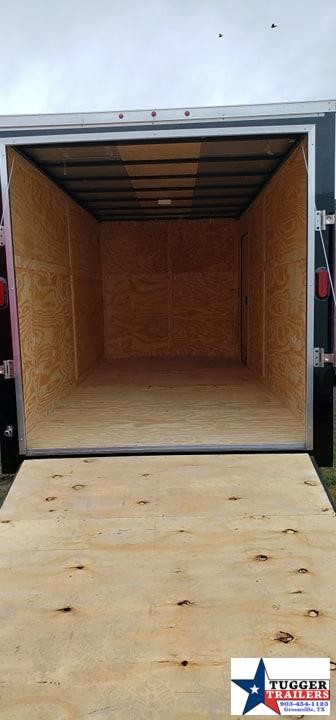 2019 T-Series 7x16 16ft Black Ramp Enclosed Cargo Trailer