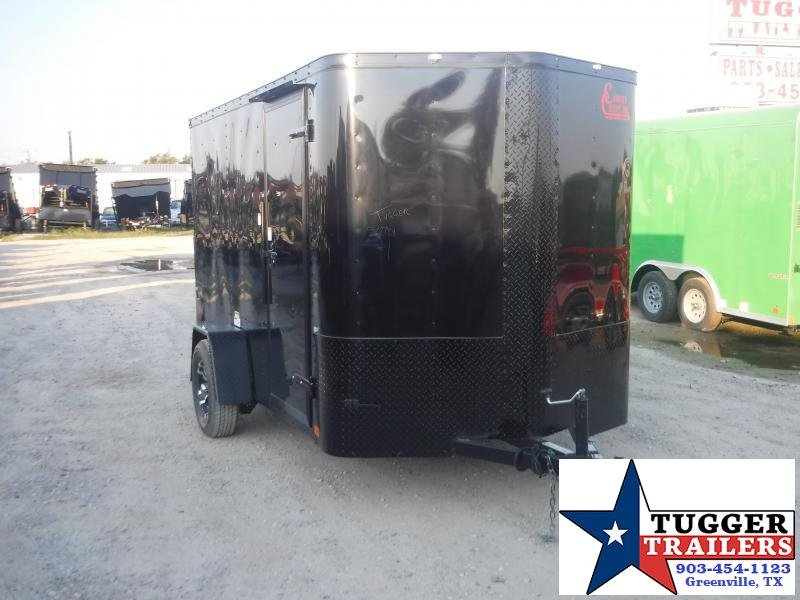 2020 Cargo Craft 6x10 Elite Plus 2' V-Nose Blackout Enclosed Cargo Trailer