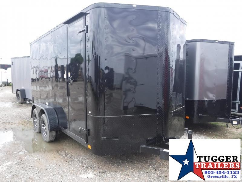 2019 Cargo Craft 7x14 14ft Black Out Ramp Enclosed Cargo Trailer
