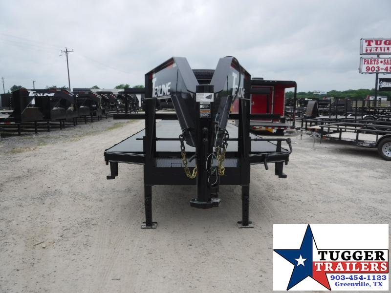 2019 TexLine 102x30 30ft Open Gooseneck Equipment Flatbed Trailer