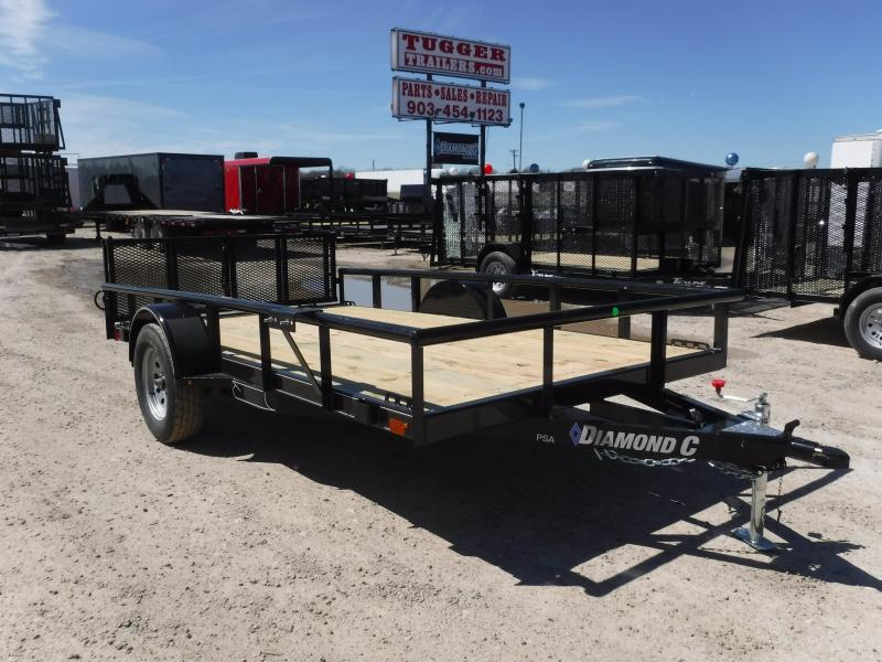 2019 Diamond C Trailers 77x12 12ft 2019 Black PSA135 Utility Trailer