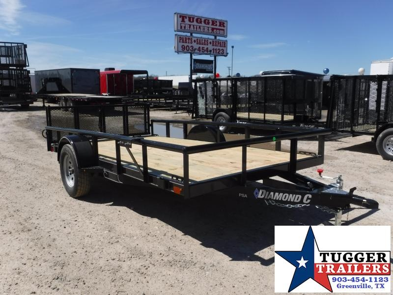 2019 Diamond C Trailers 77x12 12ft 2019 Black PSA135 Utility Trailer