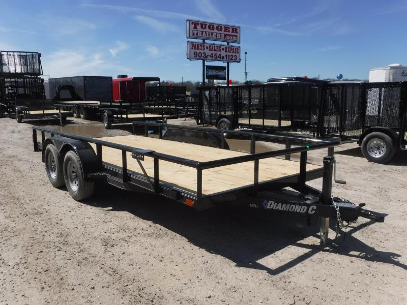 2019 Diamond C Trailers 83x16 16ft Black 2019 GTU Utility Trailer