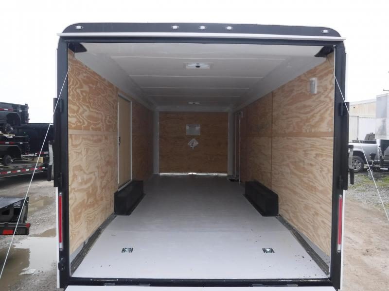 2019 Cargo Craft 8.5x24 24ft Auto White 2019 Ramp Car / Racing Trailer