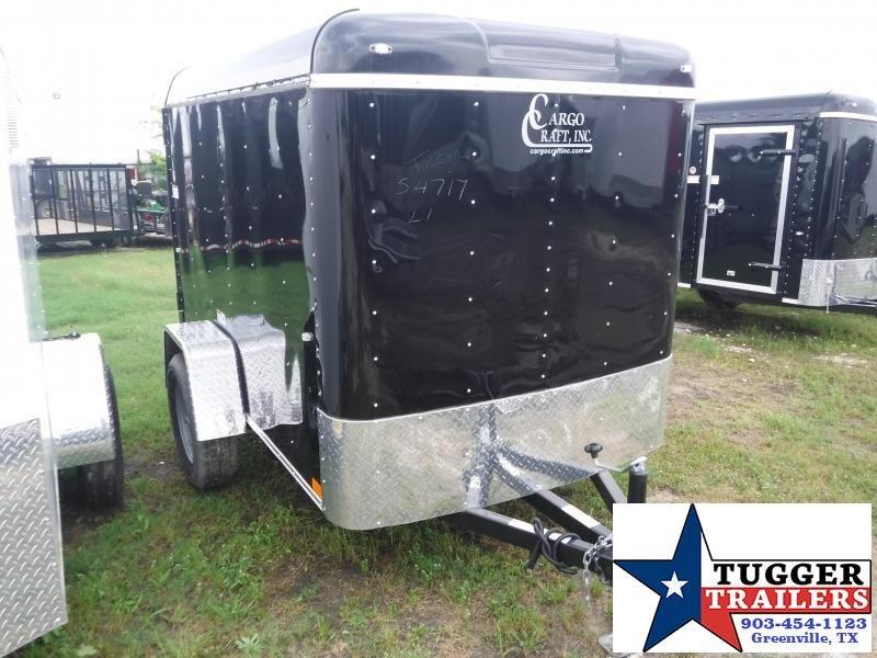 2019 Cargo Craft 5x8 8ft Explorer Black Swing Door Enclosed Cargo Trailer