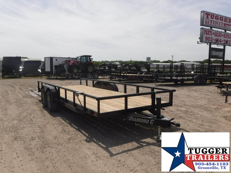 2019 Diamond C Trailers 82x20 20ft Black 2019 TUT 252 Utility Trailer