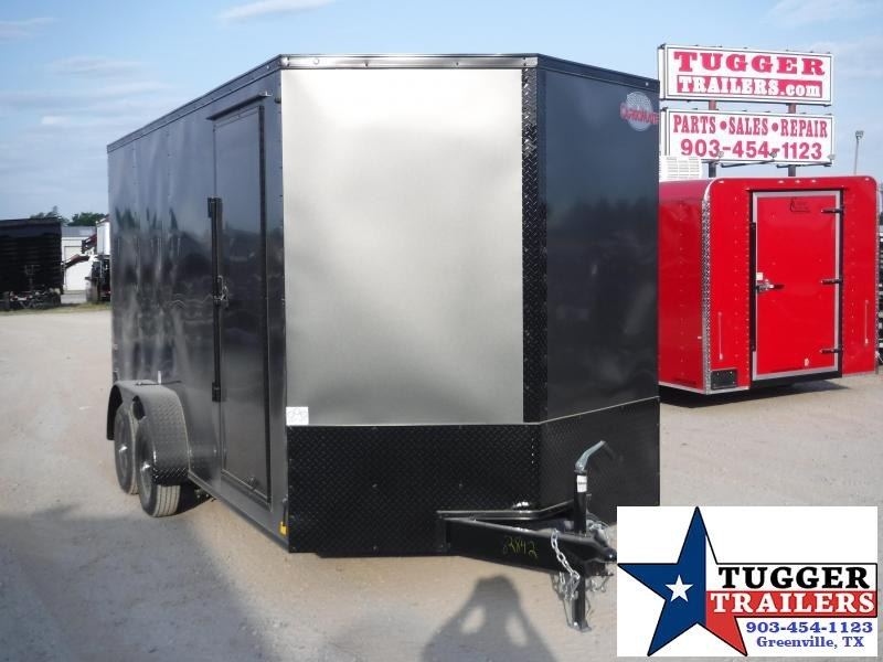 2020 Cargo Mate 7x16 16ft E-Series Blackout Ramp Enclosed Cargo Trailer