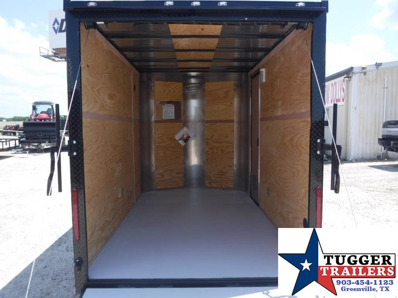 2019 Cargo Craft 6x10 10ft Plus 2 V-Nose Blackout Enclosed Single Axle Cargo Trailer