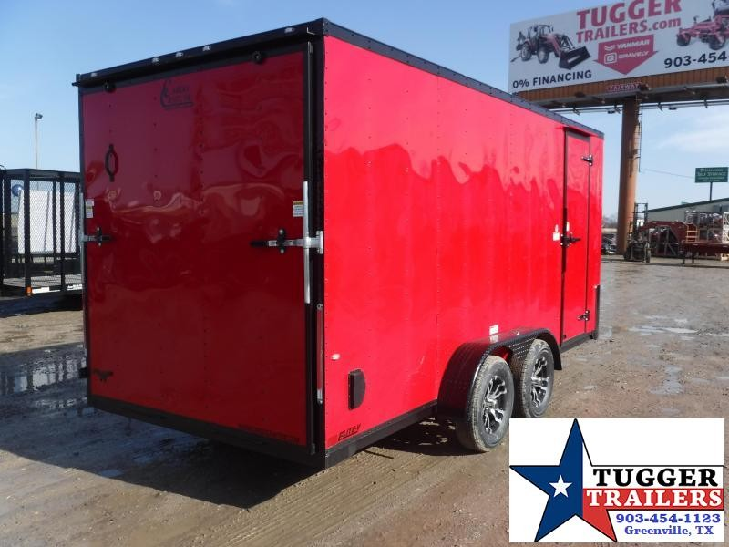 2019 Cargo Craft 7x16 16ft Red with Black-Out 2019 Ramp Enclosed Cargo Trailer