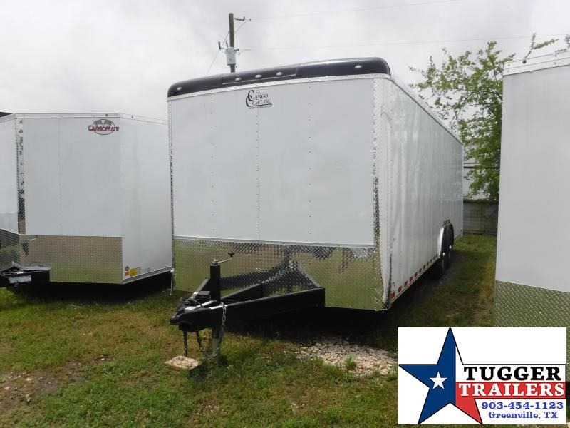 2019 Cargo Craft 8.5X24 24FT Expedition White Ramp Enclosed Cargo Tandem Axle Trailer
