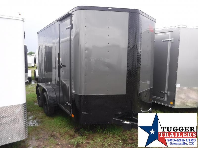 2019 Cargo Craft 7x12 12ft Black Out Enclosed Cargo Trailer