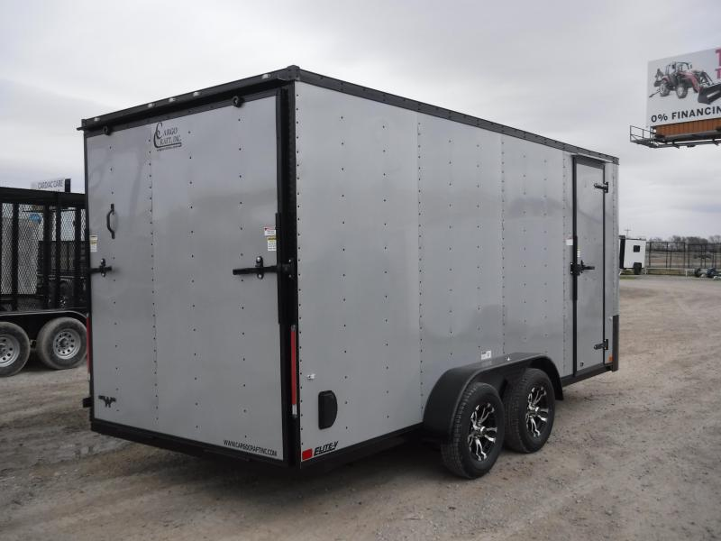 2019 Cargo Craft 7x16 16ft Diamond Ice Black Out Enclosed Cargo Trailer