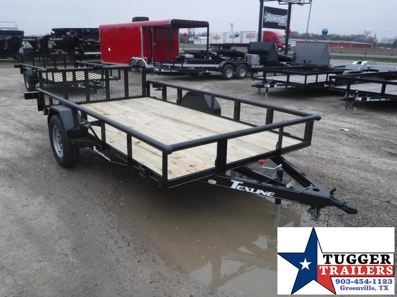 2019 TexLine 77x12 12ft Black 2019 Stealth Utility Trailer