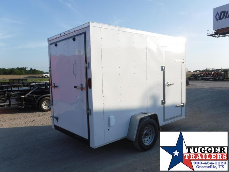 2019 T-Series 6x10 White Enclosed Cargo Trailer
