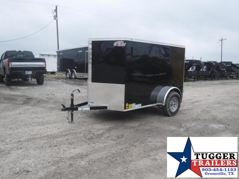 2020 Cargo Mate 5x8 8ft E-V Black Double Door Enclosed Cargo Single Axle Trailer