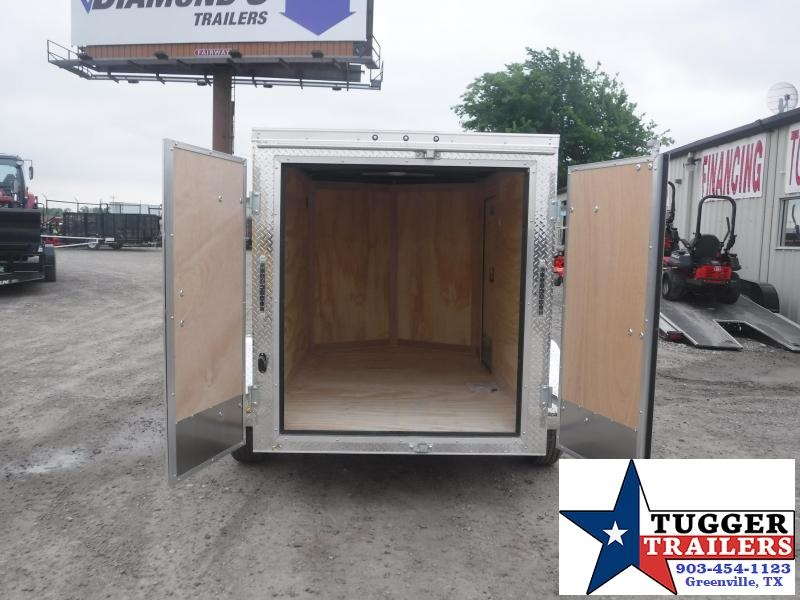 2020 Cargo Mate 5x8 8ft E-V Black Double Door Enclosed Cargo Single Axle Trailer