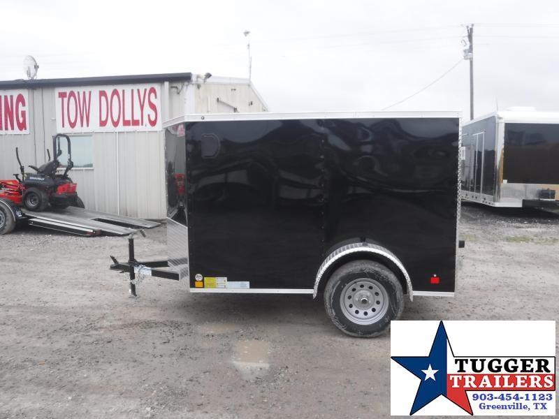 2020 HAIL SALE! Cargo Mate 5x8 8ft E-V Black Double Door Enclosed Cargo Single Axle Trailer