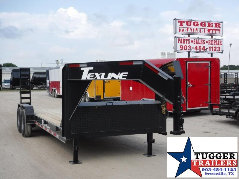 2019 TexLine 83x20 20ft Gooseneck Utility Equipment Bobcat Flatbed Trailer