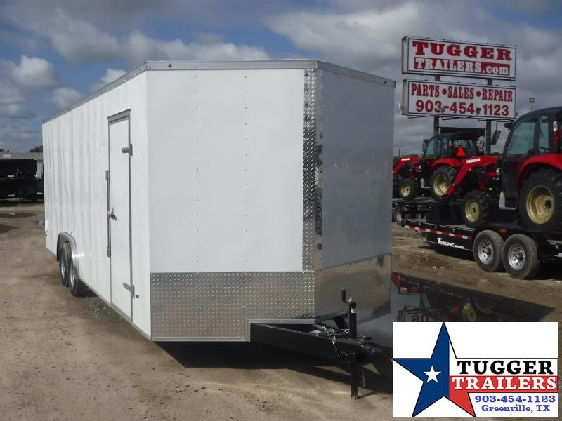 2019 T-Series 8.5 x 24 Enclosed Cargo Trailer Motorcycle Hauler Trailers