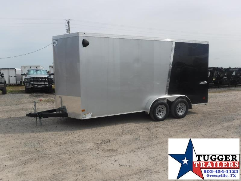 2019 Haulmark 7x16 16ft Black Silver Ramp Enclosed Cargo Tandem Axle Trailer