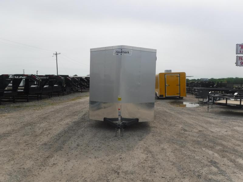 2019 Haulmark 7x16 16ft Black Silver Ramp Enclosed Cargo Trailer