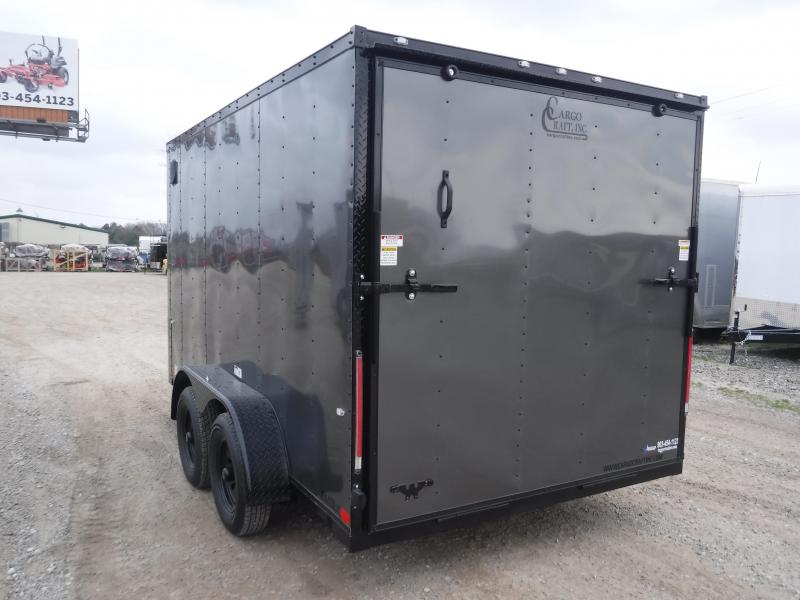 2019 Cargo Craft 7x12 12ft Charcoal Black-Out Enclosed Cargo Trailer