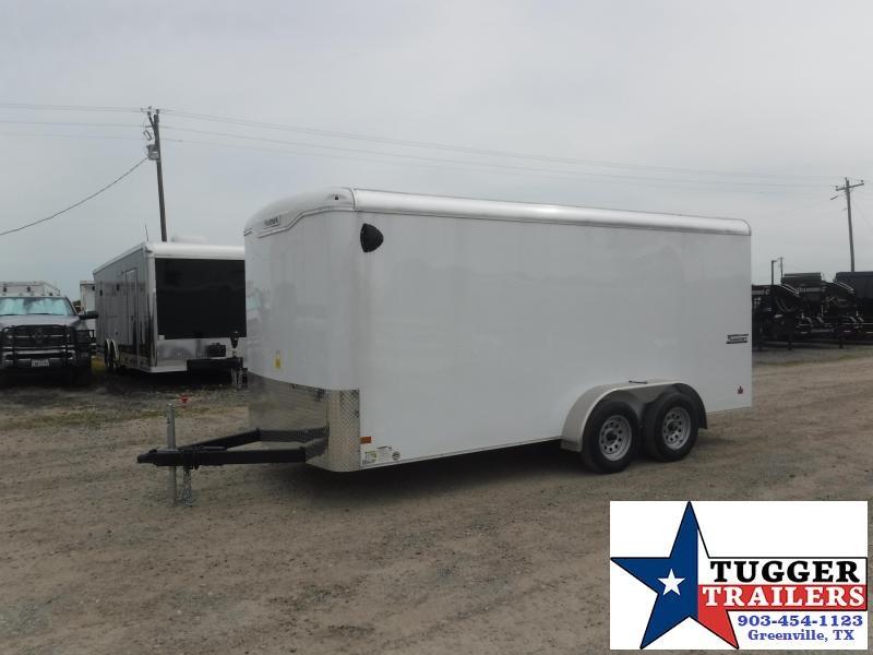 2019 Haulmark 7x16 16ft Transport Ramp White Enclosed Cargo Tandem Axle Trailer