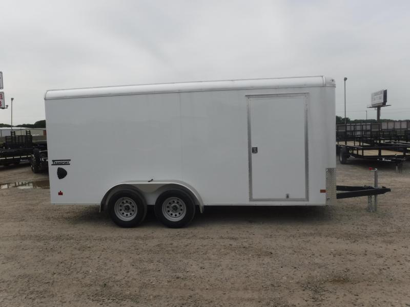 2019 Haulmark 7x16 16ft Transport Ramp White Enclosed Cargo Trailer