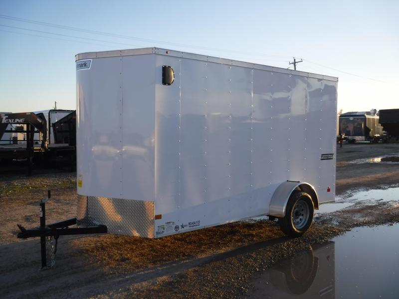 2019 Haulmark 6x12 White Enclosed Cargo Trailer