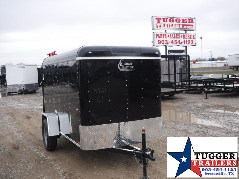 2019 Cargo Craft 5x10 10ft Black 2019 Swing Door Enclosed Cargo Trailer